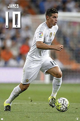 Real Madrid - James Rodriguez #10 Poster