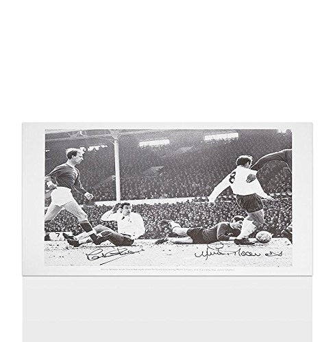 Martin Chivers and Jimmy Greaves signed Tottenham Hotspur print - Autographed Photos