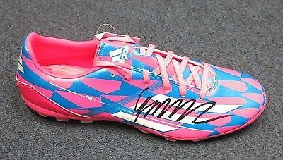 10 James Rodriguez Signed Sz 10 Adidas Pink Blue Soccer Cleat AUTO PSA/DNA COA