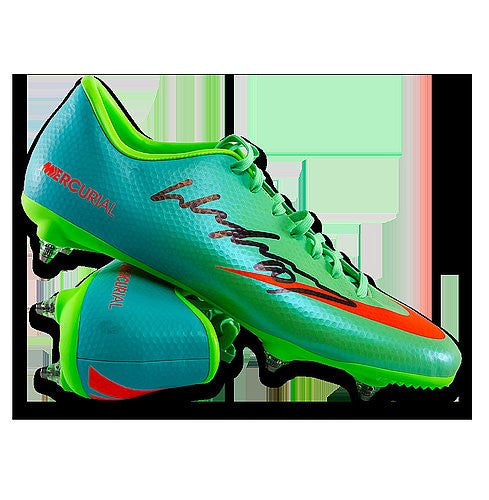 Wayne Rooney Autographed Green Nike Mercurial Boot