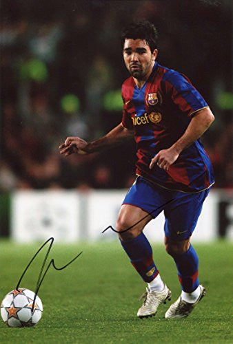 Deco FC BARCELONA autograph, In-Person signed photo