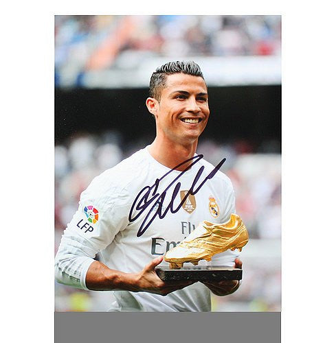 Cristiano Ronaldo Autographed Real Madrid 16x12 Photo: 2015 Golden Boot Winner - ICONS Authentic Signed Autograph