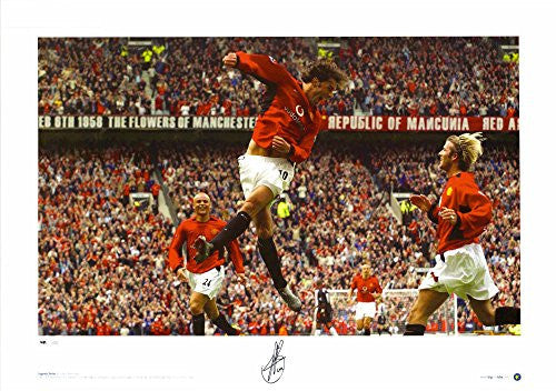 "Ruud van Nistelrooy Manchester United Autographed 23"" x 16"" Celebration Photograph - ICONS - Fanatics Authentic Certified"