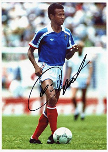 Jean Tigana autograph, In-Person signed photo