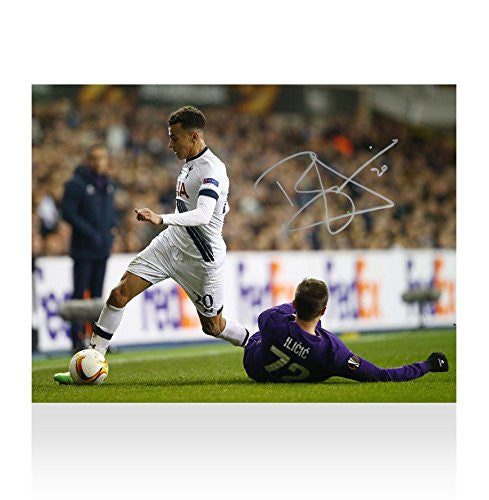 Dele Alli Signed Autograph Tottenham Hotspur Photo - Spurs vs Fiorentina