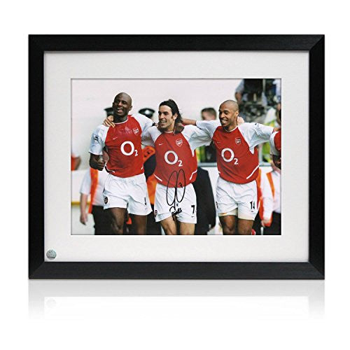 Robert Pires Signed And Framed Arsenal Photo: The Invincibles Celebrate At White Hart Lane