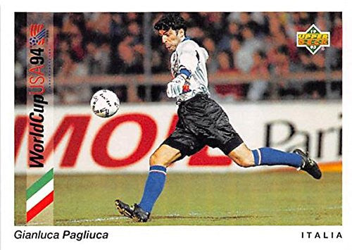 Gianluca Pagliuca trading card 1993 Upper Deck World Cup #86