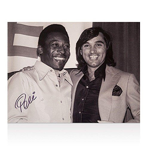 Pele signed photo - Pele & George Best Autograph