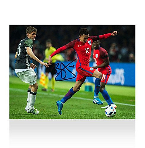 Dele Alli Signed Autograph England Photo - England vs Germany Autograph