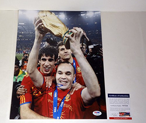Andres Iniesta Signed Autograph 11x14 Photo PSA/DNA COA #1