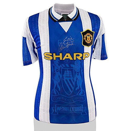 Eric Cantona Signed Manchester United Shirt - 1996 Third Shirt Autograph