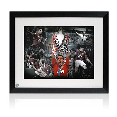 Signed And Framed Robin van Persie Manchester United Photograph: Season Highlights