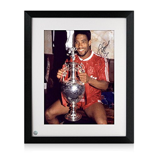 Signed And Framed John Barnes Liverpool Photograph: Holding The League Championship