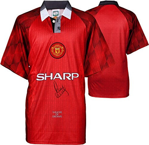 Paul Scholes Manchester United Autographed Jersey Signed on Front