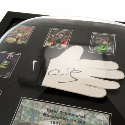 Manchester United F.C. Schmeichel Signed Glove Framed