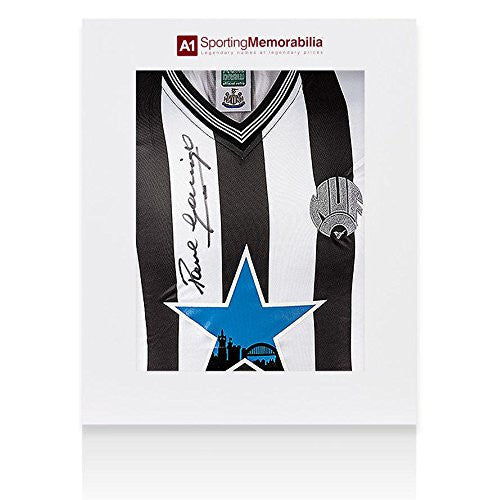 Paul Gascoigne Signed Jersey - Shirt Newcastle Gift Box - Autographed