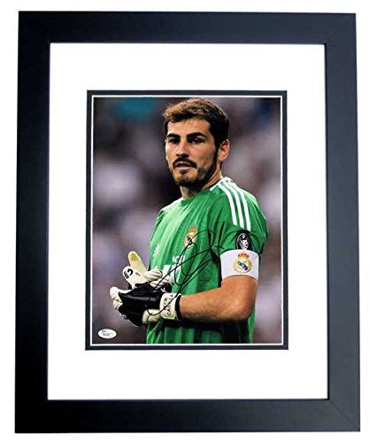 Iker Casillas Signed - Autographed Real Madrid -  11x14 Photo BLACK CUSTOM FRAME - JSA Certificate of Authenticity