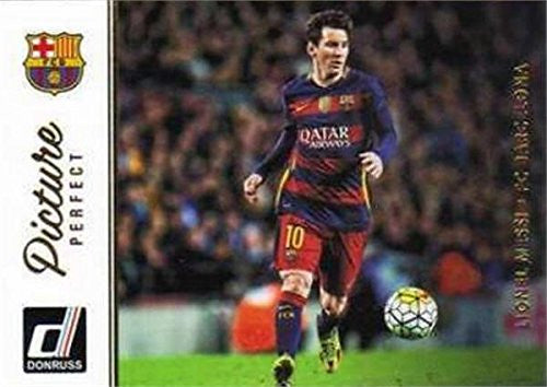 Lionel Messi soccer card 2016 Donruss Picture Perfect #48