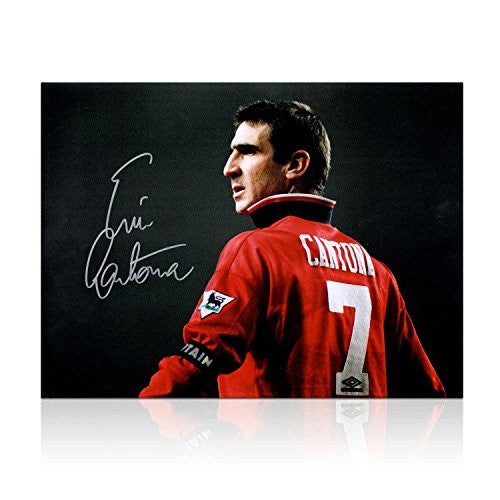 Eric Cantona Signed Manchester United Photo In Gift Box