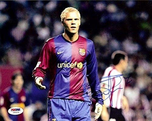 Eidur Gudjohnsen Signed Photo - Authentic 8x10 Barcelona - PSA/DNA Certified - Autographed Photos
