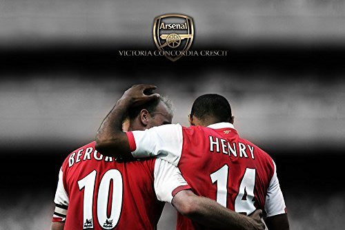 Dennis Bergkamp and Thierry Henry Poster Canvas Print