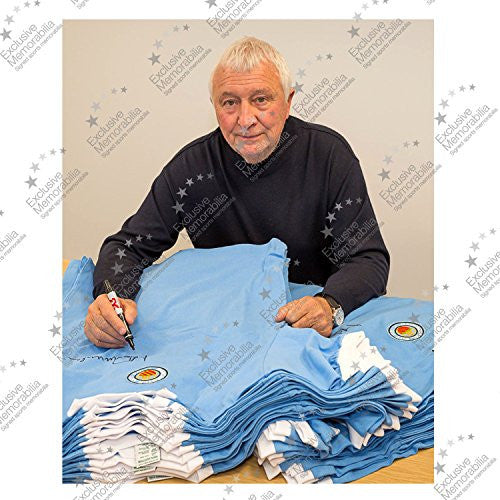 Manchester City Soccer Jersey Signed By Colin Bell, Francis Lee And Mike Summerbee