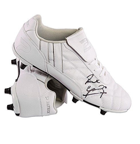 Paul Gascoigne Signed Patrick Football Boot - White Autographed