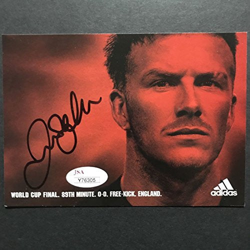 Autographed/Signed David Beckham Manchester Unired Soccer 4x6 Photo JSA COA LOA