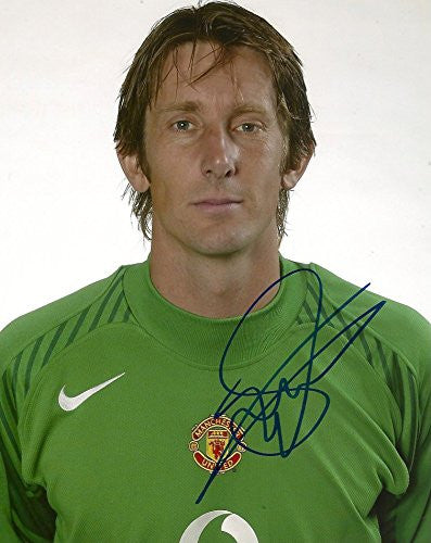 Edwin van der Sar SOCCER autograph, In-Person signed photo