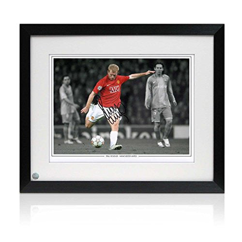 Paul Scholes Signed And Framed Manchester United Photograph