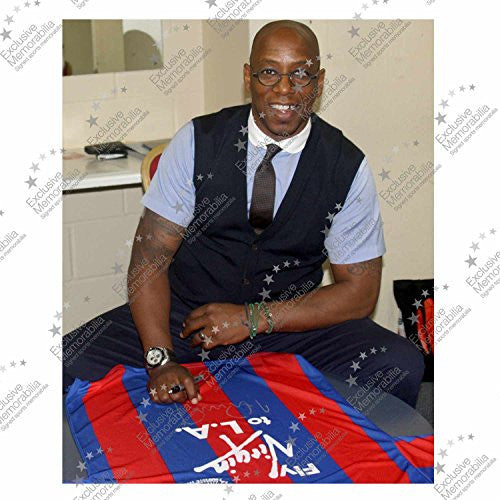 Ian Wright Signed Crystal Palace 1990 FA Cup Final Soccer Jersey
