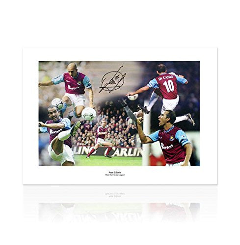 Autographed Paolo Di Canio Photo - Autographed Soccer Photos