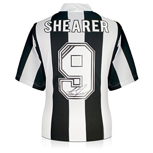 Alan Shearer Back Signed Newcastle 1996 Soccer Jersey