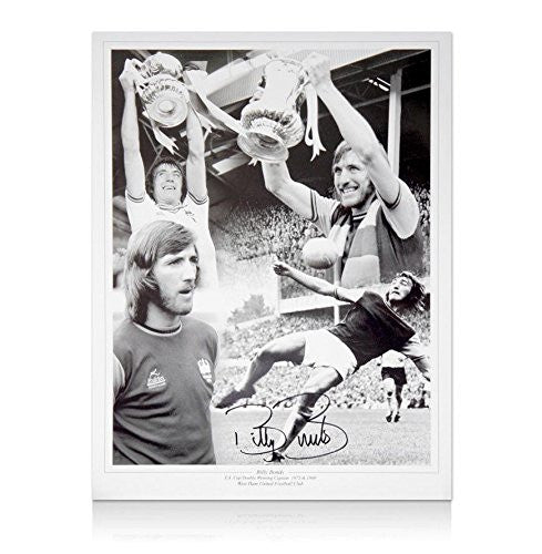 Billy Bonds Signed Montage - Autographed Soccer Photos