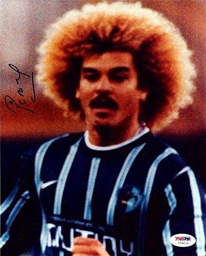 Carlos Valderrama Signed Photo - Authentic 8x10 Colombia - PSA/DNA Certified - Autographed Photos