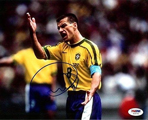 Dunga Signed Photograph - Authentic 8x10 - PSA/DNA Certified - Autographed Photos