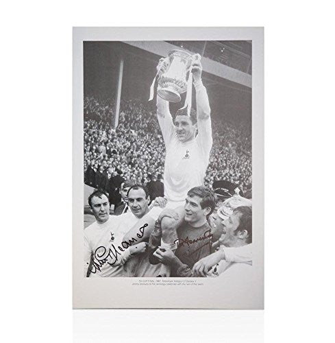 Jimmy Greaves And Pat Jennings Hand Signed Photo - FA Cup Final 1967