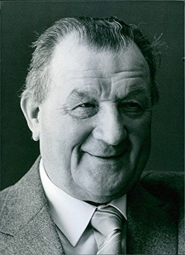 Vintage photo of British football manager, Bob Paisley, 1983.