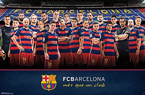 FC Barcelona Team Wall Poster