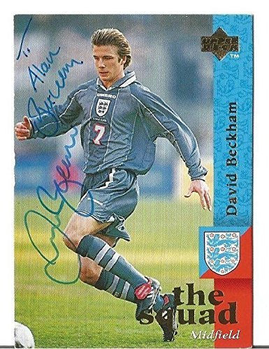 David Beckham Auto Signed The Squad 97-98 Upper Deck #18 Rc Card Loa Rare!!! - JSA Certified - Autographed Soccer Cards