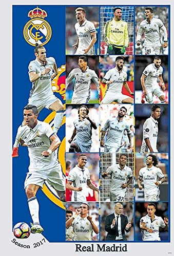 Real Madrid Team 2016 / 2017 Poster