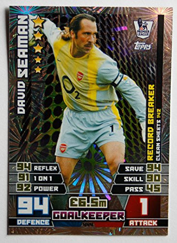 MATCH ATTAX 2014/2015 > RECORD BREAKERS DAVID SEAMAN > Number 444