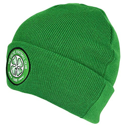 Celtic FC Official Soccer/Football Crest Cuffed Knitted Winter Beanie Hat