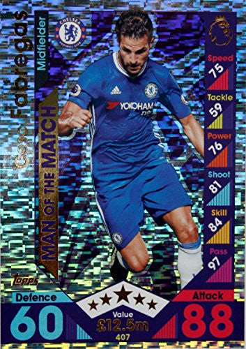 Match Attax 16/17 > Cesc Fabregas Chelsea Man of the Match > #407