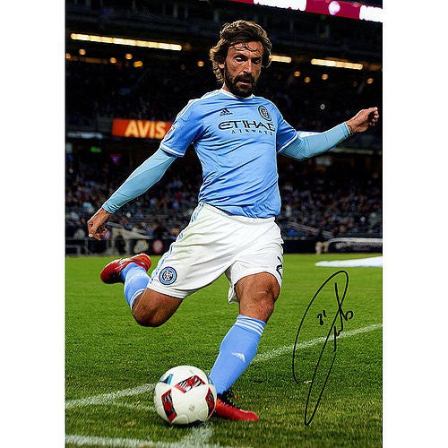 Andrea Pirlo Signed NYCFC 16x12 Photo