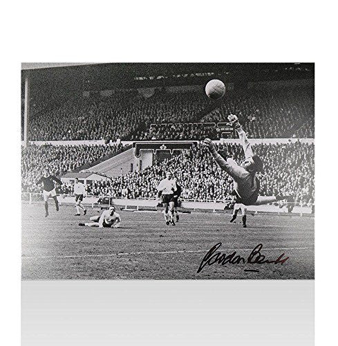 Gordon Banks Signed Photo - England Save Autograph