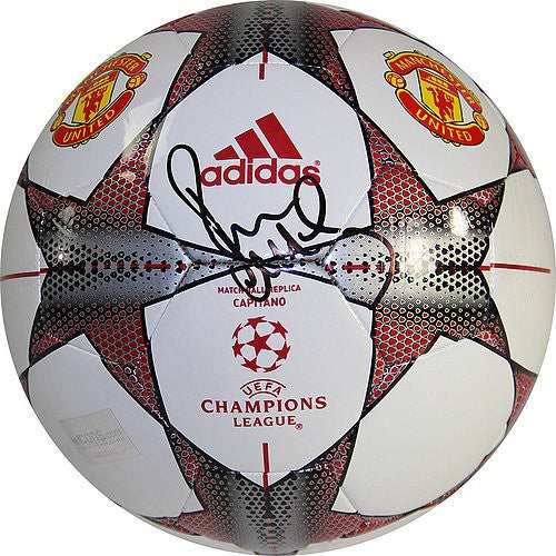 Paul Scholes Signed UCL Football