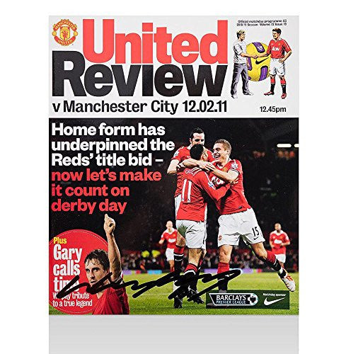 Wayne Rooney Signed Match Programme - United V City 2011 Autographed