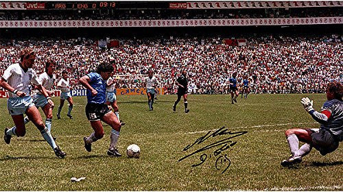 Diego Maradona Signed Argentina vs. England - Goal Of The Century