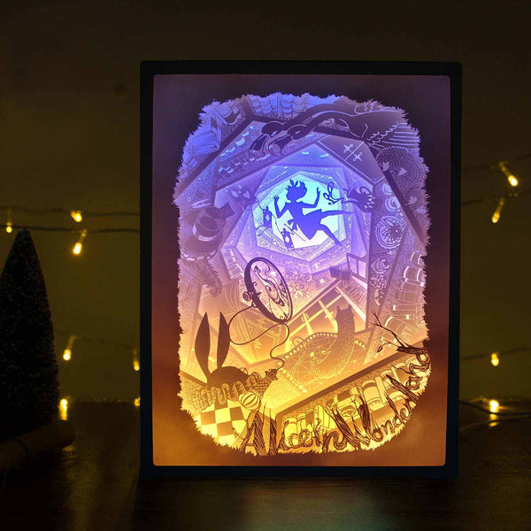 Papercut Light Boxes - Alice in Wonderland